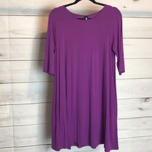 Purple swing tunic